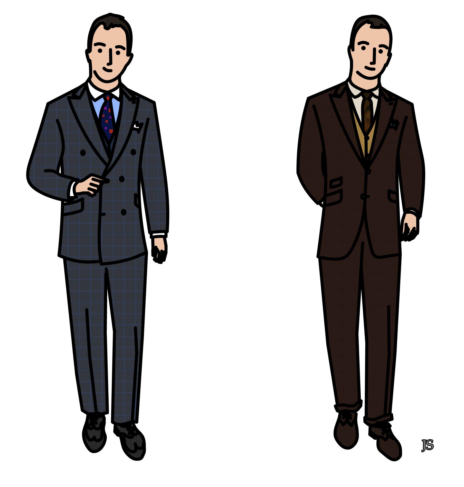 Le vestiaire id al m j7 stiff collar - Dessin costume ...