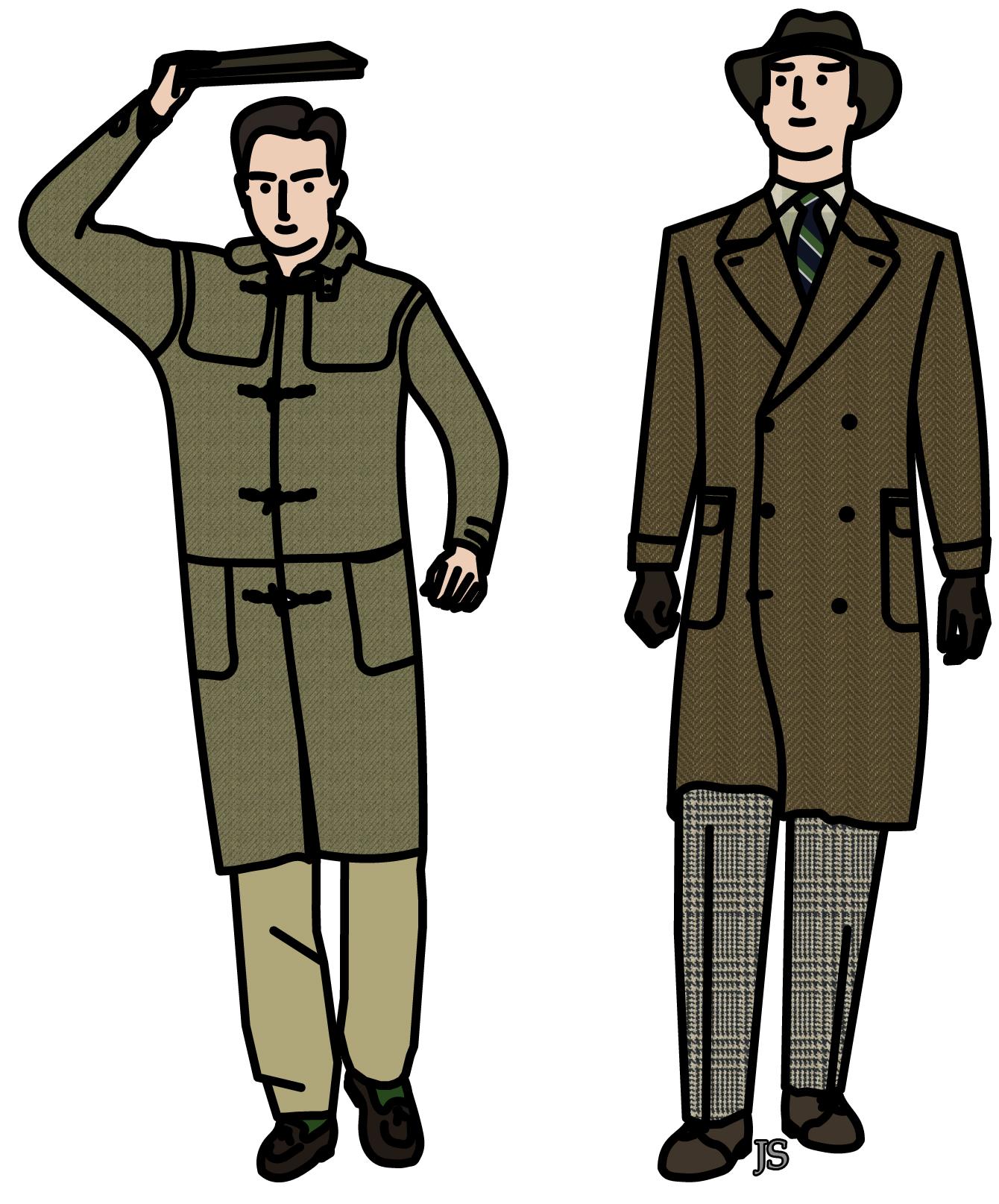 Manteaux pour l hiver ii stiff collar - Dessin de manteau ...