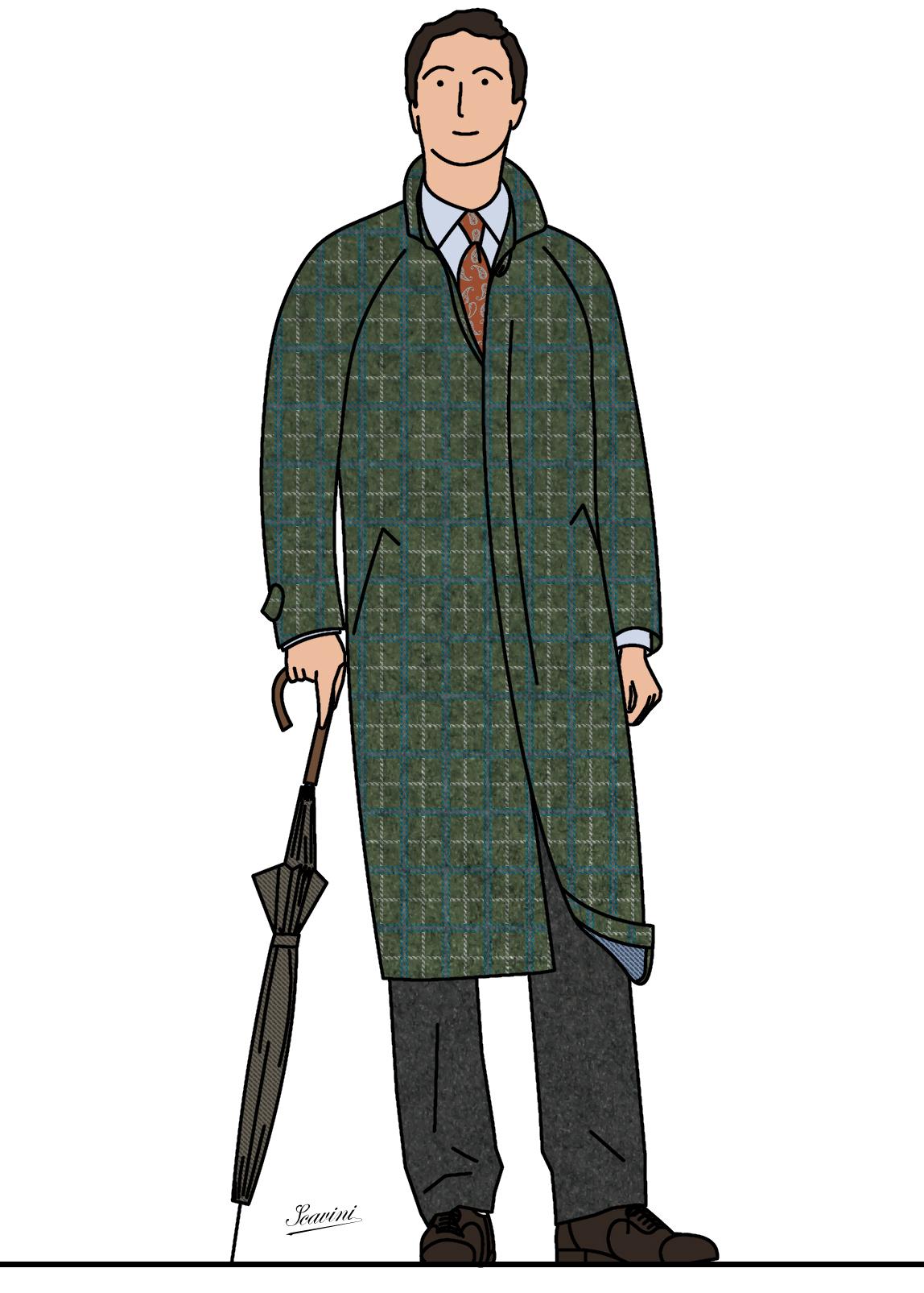 Carreaux et manteaux stiff collar - Dessin de manteau ...