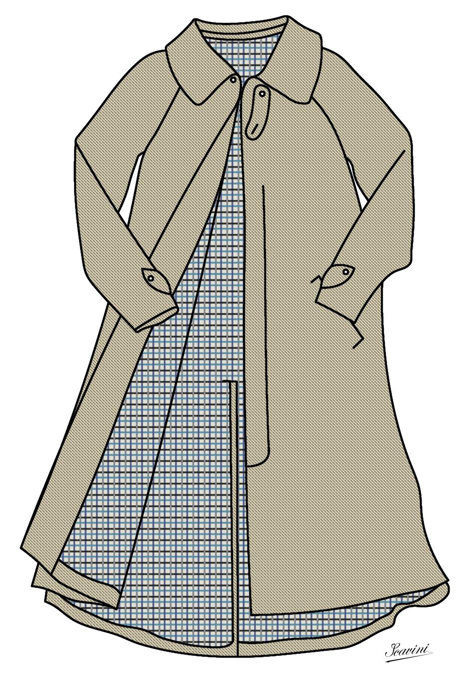 Manteaux stiff collar - Dessin de manteau ...