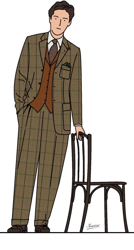 costume campagne tweed