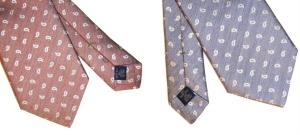 cravate coton et soie
