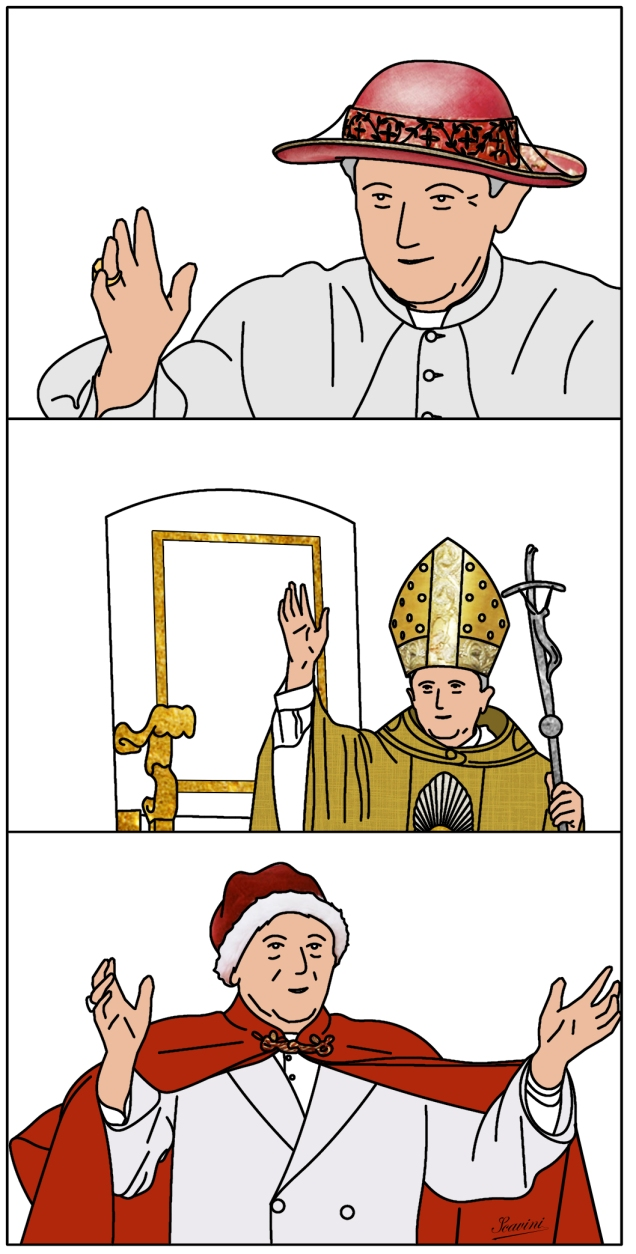 pape benoit 16 chapeaux