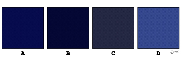 différents bleus