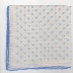 Lin imprimé, roulotté main, 36x36