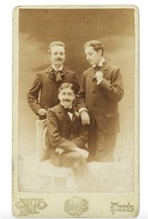 Marcel Proust, Lucien Daudet et Robert de Flers 1896