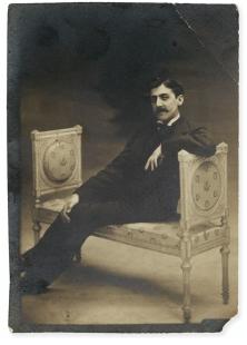 Marcel Proust sur une banquette (27/07/1896)
