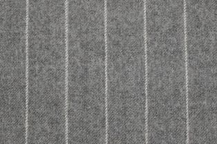Rayure craie dans un tissu à peine flanellé