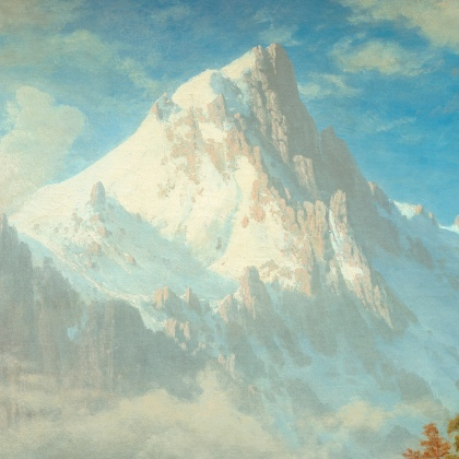 Albert Bierstadt (American, 1830 - 1902), Mount Corcoran, c. 1876-1877, oil on canvas, Corcoran Collection (Museum Purchase, Gallery Fund) 2014.79.4