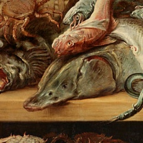 Frans_Snyders_and_Cornelis_de_Vos_-_Fish_Market détail2