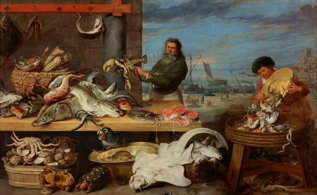 Frans_Snyders_and_Cornelis_de_Vos_-_Fish_Market