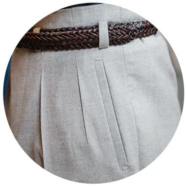 pantalon poche passepoilée coté