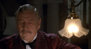 Peter Ustinov as Hercule Poirot dressing gown 2