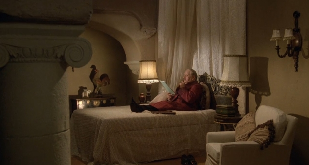 Peter Ustinov as Hercule Poirot dressing gown 3